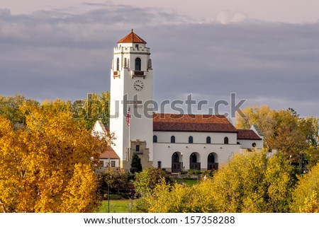 Historic architecture in autumn  - stock photo