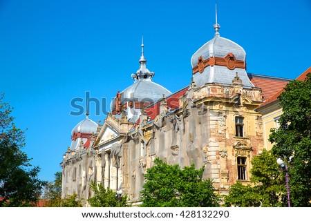 Historic Architecture in Oradea, Romania, Europe. - stock photo