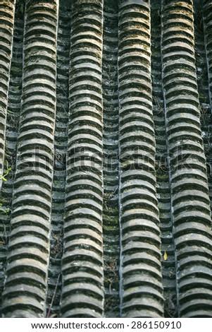 Historic Architecture of China.Tile background - stock photo