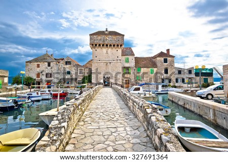 Historic architecture of Kastel Gomilica, Split, Croatia - stock photo