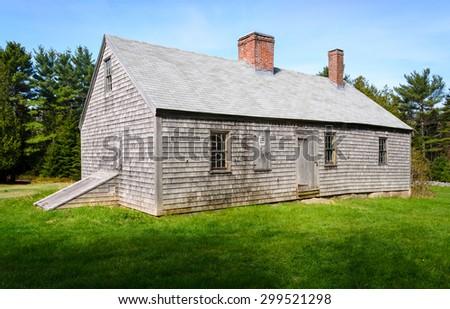 Historic Building at Acadia National Park - stock photo