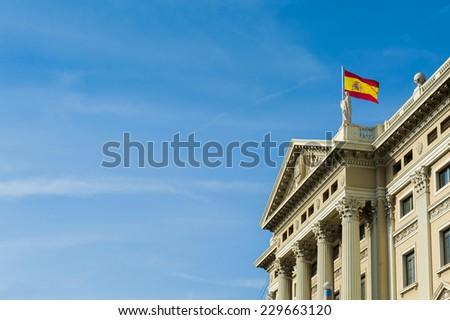 Historic building in Barcelona, Spain. - stock photo