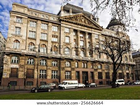 historic building in Budapest, Hungary - stock photo
