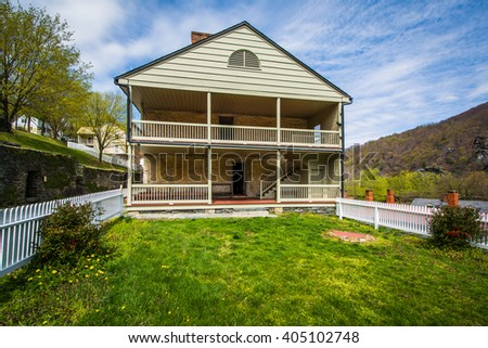 Historic building in Harpers Ferry, West Virginia.