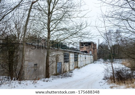 Historic building prora from nazi era in germany, garage complex, rugia island, baltic sea