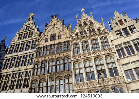 Historic buildings in the city of Antwerp