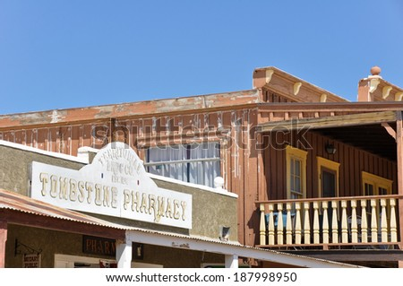 Historic buildings in Tombstone, Arizona - stock photo