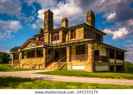 Historic Casino in Patterson Park, Baltimore, Maryland. - stock photo