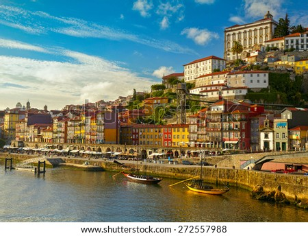 Historic center city of Porto, Portugal - stock photo