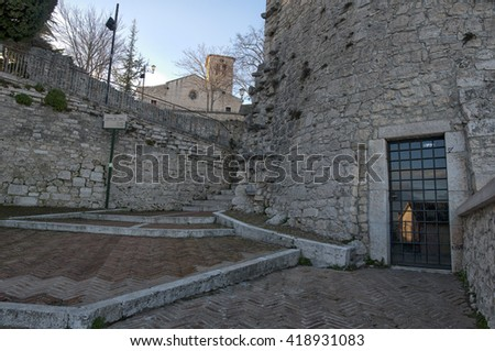Historic center of Campobasso, ancient village, Monforte Palace
