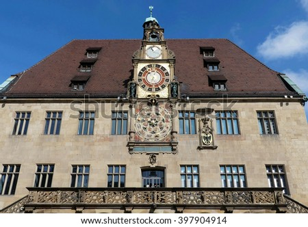 historic city hall, Heilbronn,Germany - stock photo