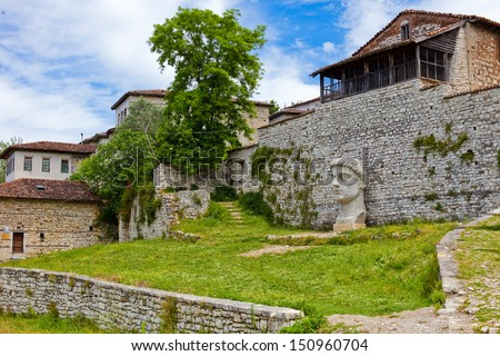 Historic city of Berat in Albania, an Unesco world heritage site in the old Castle