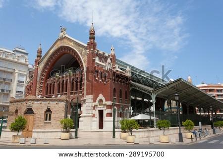 Historic Colon Market in the city of Valencia, Spain - stock photo