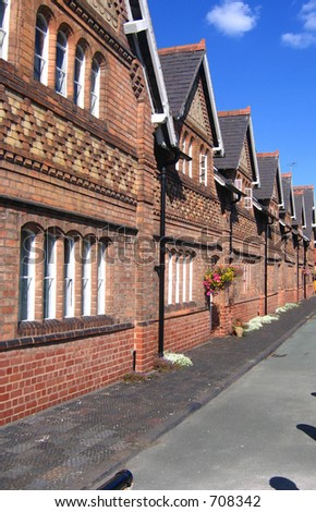Historic Cottages in Chester, England - stock photo