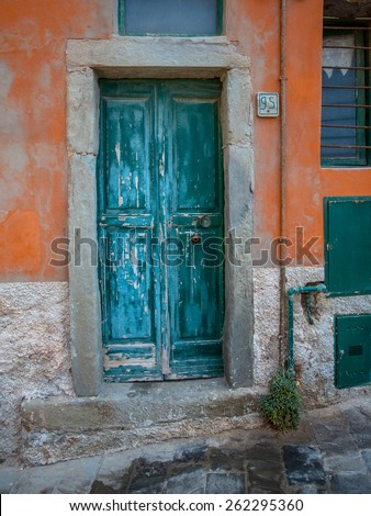 Historic Doorway of a House in Italy, Europe - stock photo
