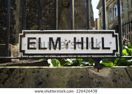 Historic Elm Hill in Norwich. - stock photo