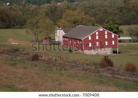 Historic Farm, Gettysburg PA - stock photo