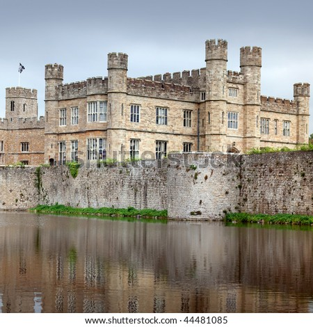 Historic fortification Leeds castle, England. - stock photo