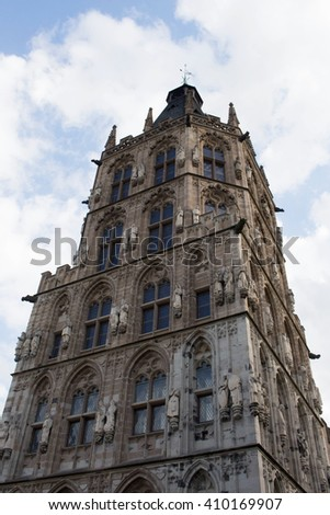 historic gothic building in the sky