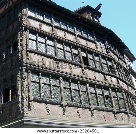 Historic home in Strasbourg, France - stock photo