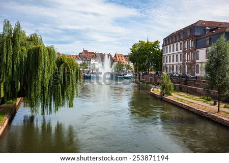 Historic houses in the center of Strasbourg, Alsace, France - stock photo