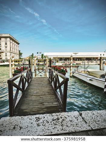 Historic interior the present Venice. - stock photo