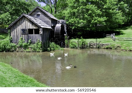 Historic Mabry Mill is a beautiful working watermill located in Floyd County Virginia, on the Blue Ridge Parkway.