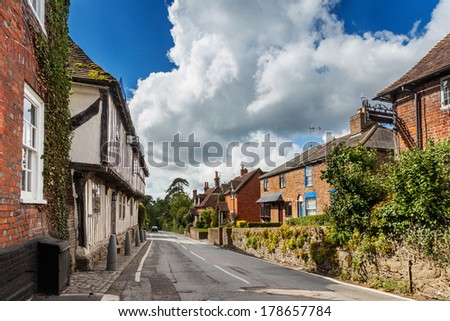Historic Malthouse on Upper Street, Hollingbourne, Kent - stock photo