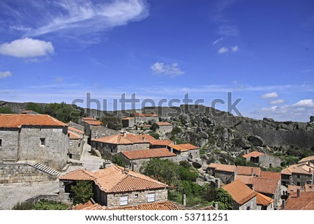 historic medieval village of Sortelha,  within Portugal - stock photo