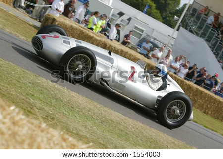 historic mercedes racing car at Goodwood Festival of Speed