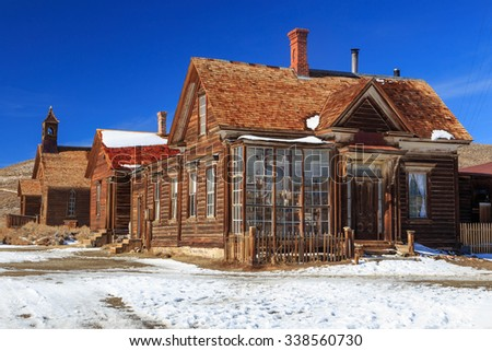 Historic miners home in Bodie, California, USA. - stock photo