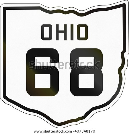 Historic Ohio Highway Route shield from 1927 used in the US.