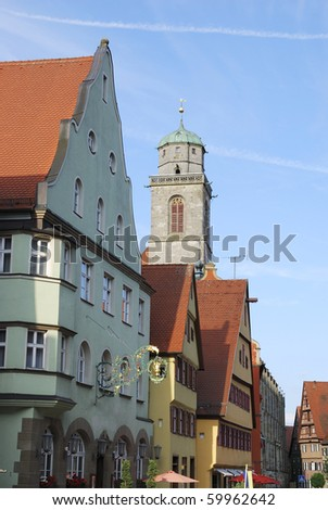 Historic old town of Dinkelsbühl (Franconia,Germany)