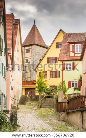 Historic old town of Dinkelsbuehl (Franconia, Germany)
