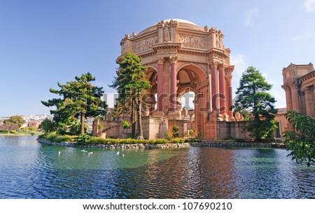Historic Palace of Fine Arts in San Francisco - stock photo