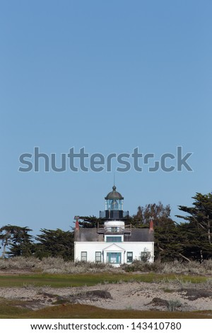 Historic Point Pinos Lighthouse in Pacific Grove, California - stock photo