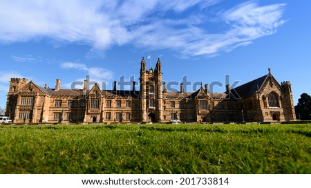 Historic Quadrant Building at Sydney University, Australia.