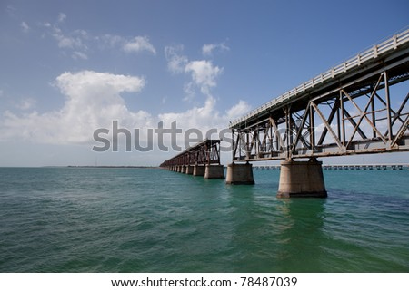 Historic Railroad Bridge - stock photo