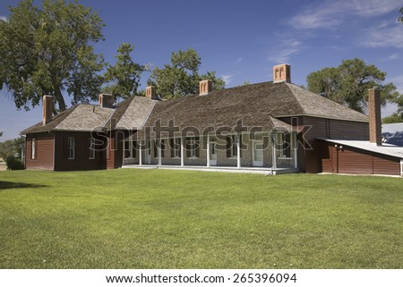 Historic ranch house at Fort Robinson, North western Nebraska - stock photo