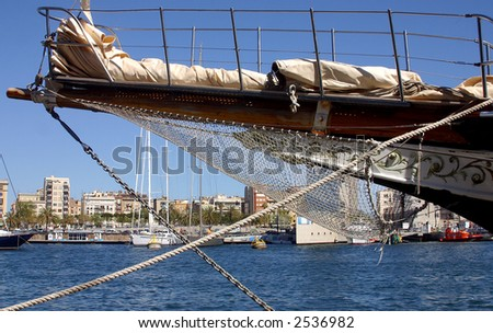 historic ship at the Port Vell  at the city of Barcelona, Catalunya, Spain, Europe
