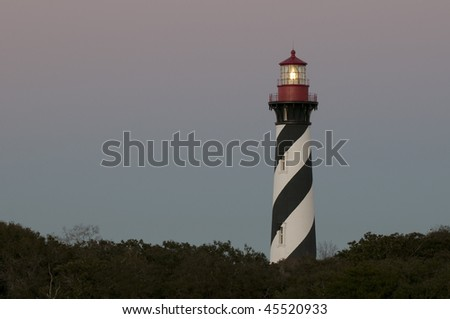 Historic St Augustine Florida lighthouse building