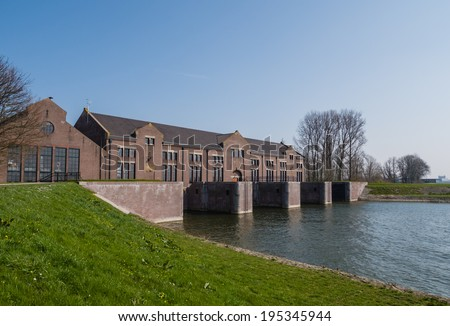 Historic steam pumping station - stock photo