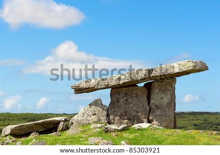 Historic stone portal in Co. Cork, Ireland - stock photo