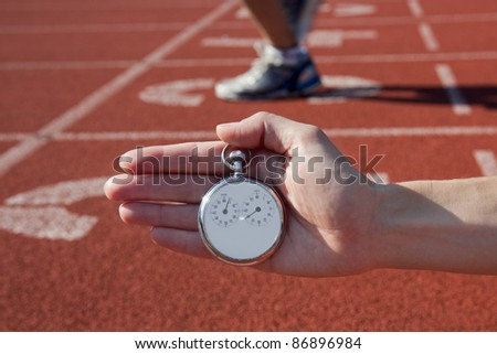 Historic stop watch time measurement - stock photo
