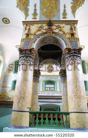 Historic synagogue in Lancut, Poland
