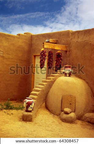 Historic Taos Pueblo. This is the oldest city in the United States. New Mexico, UNESCO