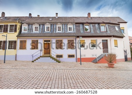 Historic 19th century residence in the city of Speyer, Germany - stock photo