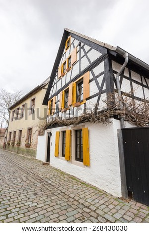 Historic timber-framed house in the old town of the city of Speyer, Germany - stock photo