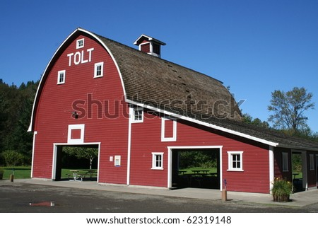 Historic Tolt Barn at Carnation, Washington USA