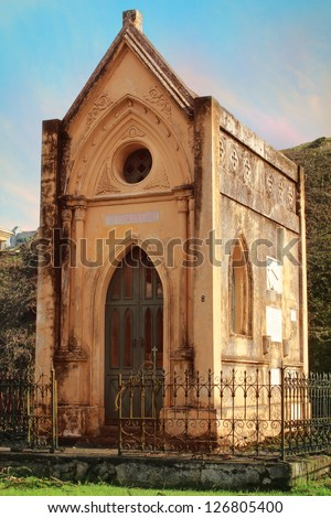 Historic Tomb in Cemetery, Guatemala City - stock photo